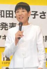 肺の生活習慣病COPD(慢性閉塞性肺疾患)の新CM記者発表会に出席した和田アキ子のトークの模様 (C)ORICON DD inc.