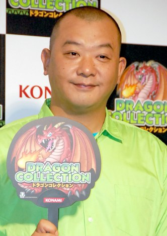 KONAMIソーシャルゲーム『ドラゴンコレクション』プレス発表\会に出席したTKO・木下隆行 (C)ORICON DD inc.