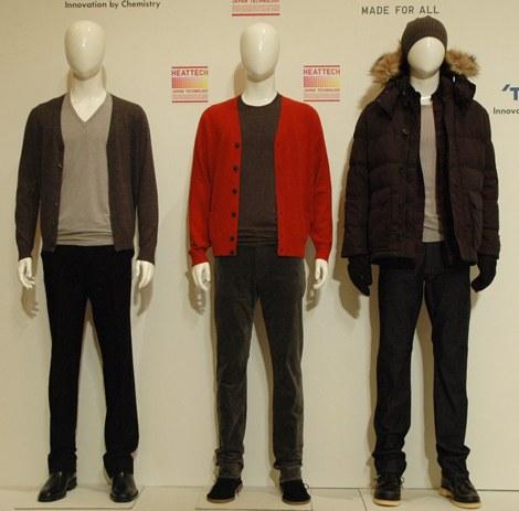 2011年『ヒートテック』、メンズ商品着こなし例