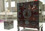 『Area Aid Design Project 東北・茨城デザインプロモーション』ブースに展示されている、仙台たんす (C)ORICON DD inc.