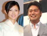 結婚を発表した星野真里とTBS高野貴裕アナウンサー (C)ORICON DD inc.