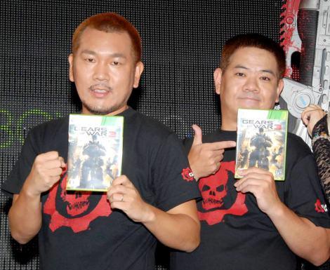 Xbox 360専用ソフト『Gears of War 3』の発売記念イベントに出席したFUJIWARA (C)ORICON DD inc.