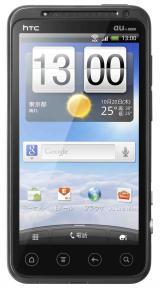 KDDI、2011年秋冬商品発表会でお披露目されたHTC『HTC EVO 3D ISW12HT』の正面。