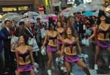 渋谷センター街のメイン通り名が「バスケットボールストリート」になり、誕生記念パレードに参加した東京ガールズ (C)ORICON DD inc.