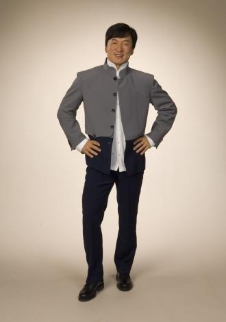 セレブリティ体験型アトラクション施設『マダム・タッソー』に飾られる、ジャッキー・チェンの等身大フィギュア