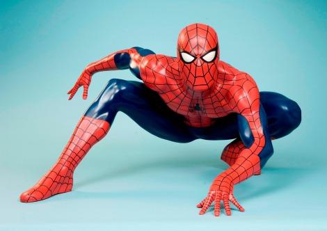 セレブリティ体験型アトラクション施設『マダム・タッソー』に飾られる、スパイダーマンの等身大フィギュア