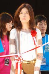 第1回NHK・民放連共同ラジオキャンペーン『はじめまして、ラジオです。』のオープニングセレモニーに登場した小島慶子(TBSラジオ) (C)ORICON DD inc.