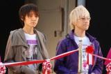第1回NHK・民放連共同ラジオキャンペーン『はじめまして、ラジオです。』のオープニングセレモニーに登場した(右から)吉田尚記(ニッポン放送)、やまだひさし(TOKYO FM) (C)ORICON DD inc.