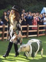 """英国人気ブランドの最先端ファッションとこの日のために作られた""""羊用ウールファッション""""を披露"""