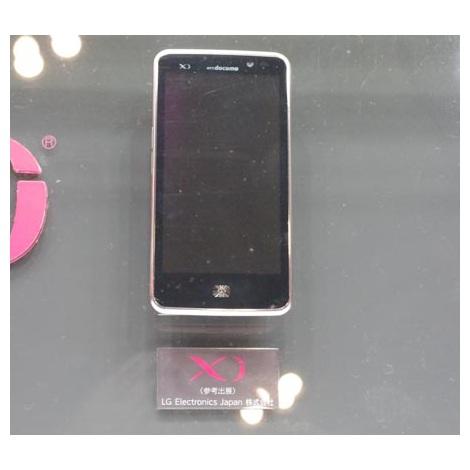 参考出展されたLG Electronics製の「Xi」対応スマートフォン