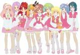 主人公「アイドル候補生9人」のキャラクターラフデザイン