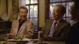 『サッポロ生ビール黒ラベル』の新CMに出演する(左から)高田純次、岸部一徳