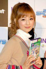 Xbox 360 Kinect専用『Kinect スポーツ:シーズン2』発売記念イベントに出席した小倉優子 (C)ORICON DD inc.