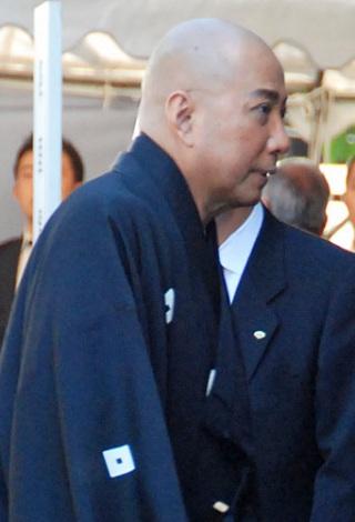 歌舞伎俳優・中村芝翫さんの葬儀告別式に参列した、市川団十郎 (C)ORICON DD inc.