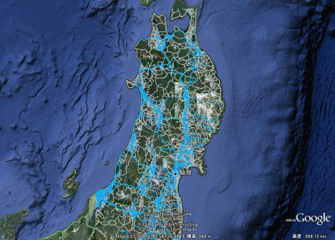 2011年度『グッドデザイン大賞』に決定した、カーナビによる情報提供サービス『Hondaのカーナビゲーションシステム「インターナビ」による、クルマの走行データ(フローティングカーデータ)を用いた情報サービスと、東日本大震災での移動支援の取り組み』(本田技研工業) ※投票結果1位:2,920票