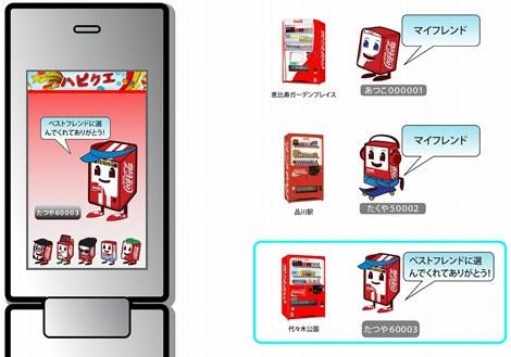コカ・コーラの自販機交流サービス『ハピネスクエスト』イメージ図
