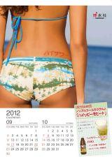 博水社が12月1日より発売する2012年版『美尻カレンダー』