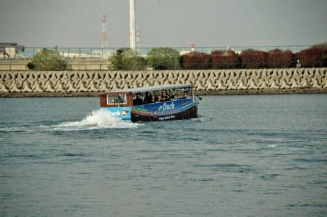 お披露目された東京都初となる水陸両用バス『SKYDuck(スカイダック)』 (C)ORICON DD inc.