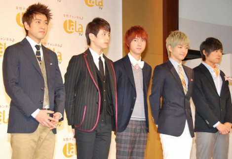 CS局『LaLa TV』の記者発表会に出席したSM☆SH (C)ORICON DD inc.