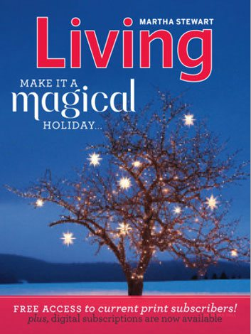 「Newsstand」で購読できる『Martha Stewart Living Magazine』