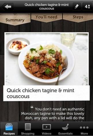 音声でページをめくることができる『Jamie's Recipes』