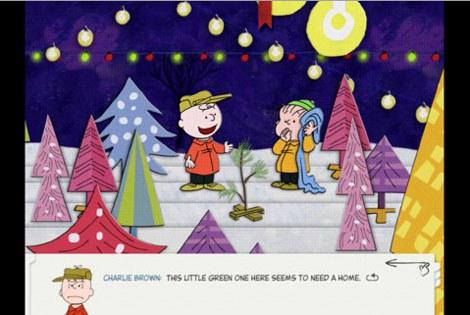 画面に触れるとキャラクターが動いたりピアノが弾ける『A Charlie Brown Christmas』