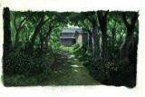 最新劇場アニメ『おおかみこどもの雨と雪』の美術ボード (C)2012「おおかみこども」製作委員会