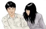 漫画家・古谷実氏が映画版『ヒミズ』のために描き下ろしたオリジナルイラスト (C)2011「ヒミズ」フィルムパートナーズ