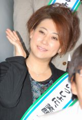 吉本興業とファミリーマートのコラボプロジェクト『いっしょに、笑顔。』発表会見に出席した友近 (C)ORICON DD inc.