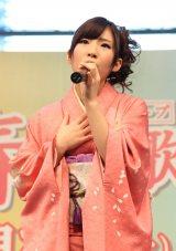 デビュー曲「無人駅」を初披露したAKB48・岩佐美咲