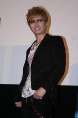 映画『BUNRAKU ブンラク』の舞台あいさつに登場したGACKT (C)ORICON DD inc.