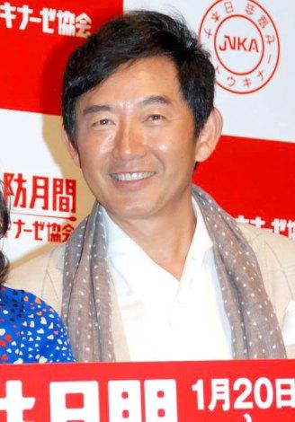日本ナットウキナーゼ協会の『血栓予防月間に関する記者会見』に出席した石田純一