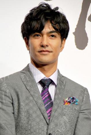アクションゲーム『バイナリー ドメイン』発表記者会見に出席した北村一輝 (C)ORICON DD inc.