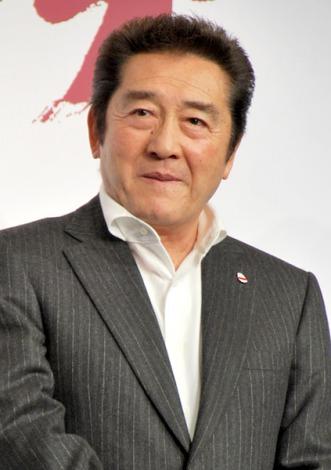 アクションゲーム『バイナリー ドメイン』発表記者会見に出席した松方弘樹 (C)ORICON DD inc.