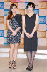 NHK BSプレミアム新番組『アフロディーテの羅針盤(コンパス)』で司会を務める(左から)佐田真由美、緒川たまき (C)ORICON DD inc.