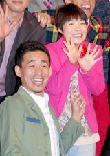 6月に出産を控える山田花子(右)と、5月に夫人の出産を控える石田靖 (C)ORICON DD inc.