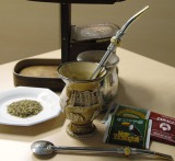 南米で古くから飲まれている「マテ茶」の茶器類 (C)ORICON DD inc.