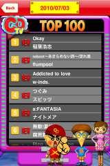 【アプリ】CDTVのランキング画面