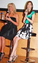 オーストラリア政府観光局と雑誌『GINGER』のトークイベントに出席した(左から)エリカ・アンギャル、菜々緒 (C)ORICON DD inc.