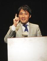 新作映画のイベントで、過去の選挙戦の暴露話を展開した杉村太蔵
