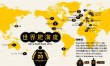 トリップアドバイザーが公開した『世界肥満地図』