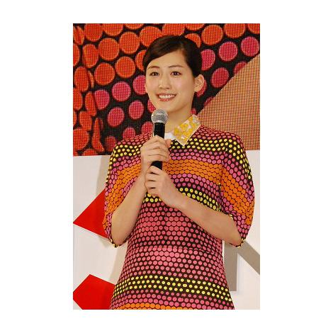 『日本生命みらい創造プロジェクト』新CM発表会に出席した綾瀬はるか (C)ORICON DD inc.