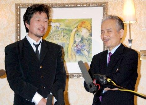 田中健芸能活動40周年記念パーティーに出席した(左から)中村雅俊、秋野太作 (C)ORICON DD inc.