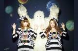 第1子妊娠を発表したPUFFYの吉村由美(写真左)