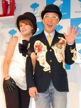 レインブーツ新ブランド『Thunderstorm』お披露目イベントに出席した梅宮アンナ(左)とテリー伊藤 (C)ORICON DD inc.