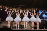 改名から1年、初の横浜アリーナ公演を行ったももいろクローバーZ(写真左から:佐々木彩夏、有安杏果、百田夏菜子、玉井詩織、高城れに)