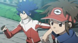 主人公とライバルによるワンシーン (C)2012 Pokemon. (C)1995-2012 Nintendo/Creatures Inc./GAME FREAK inc.
