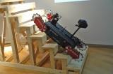 展示されている同大開発のロボット「ローズマリー」