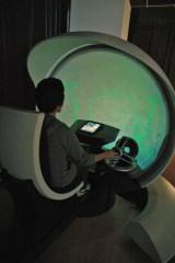 東京スカイツリータウンの「千葉工業大学 東京スカイツリー タウンキャンパス」に展示されている「火星探査船操縦シミュレーター」