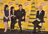 炭酸飲料『シュウェップス ブリティッシュ レモントニック』新製品発表会の模様